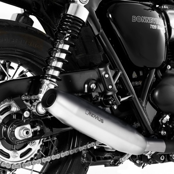 remus stainless steel exhaust bonnie t100