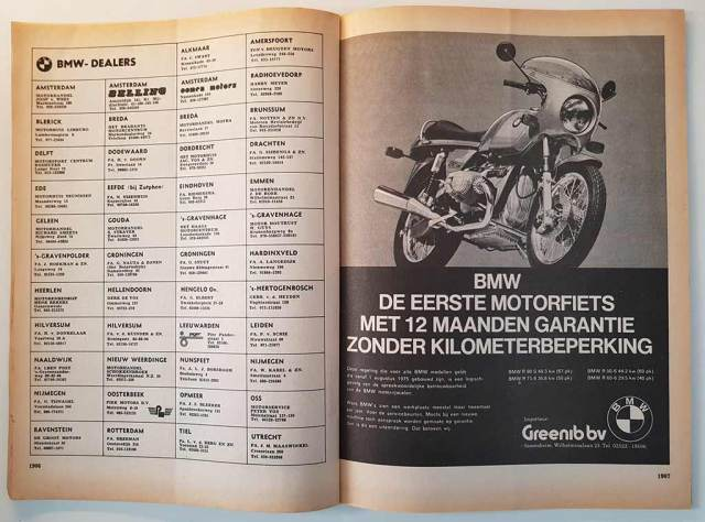 BMW R90s advertentie van Greenib B.V.