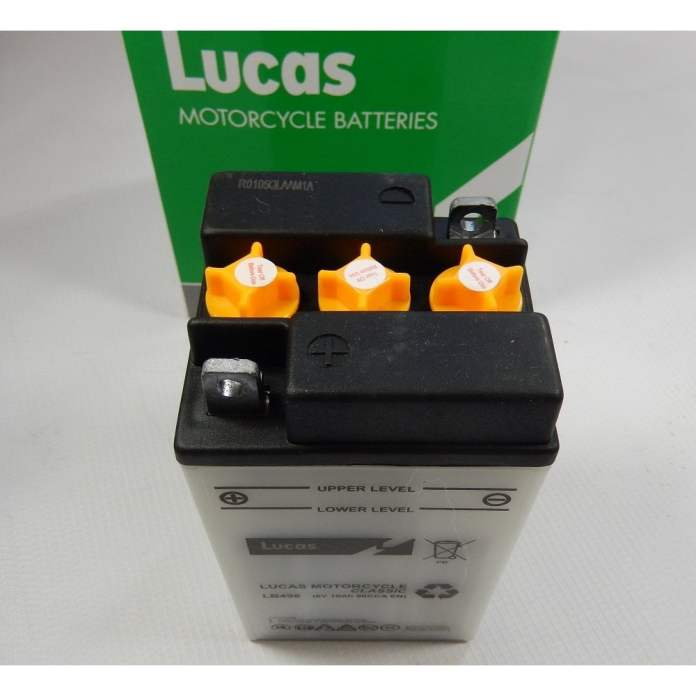 Lucas Classic Motorcycle 6v Battery B49 6 Genuine Lucas Battery With Electrode Lb496 Electrical From Classic Bike Parts Cheshire Uk