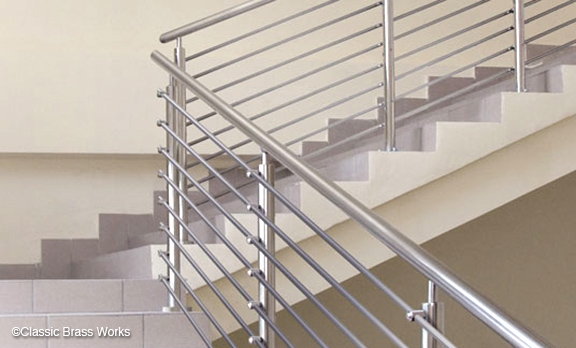 Cbw Staircase Railings   Aluminum Stair Railings Interior   Wood   Decorative   Curved Metal   Copper   Cable