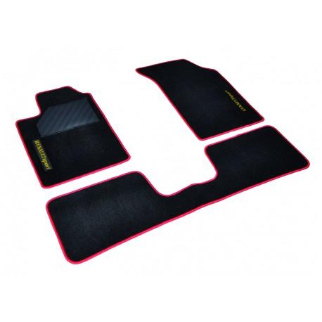 kit tapis moquette velours noir surjet rouge renault clio 2 rs