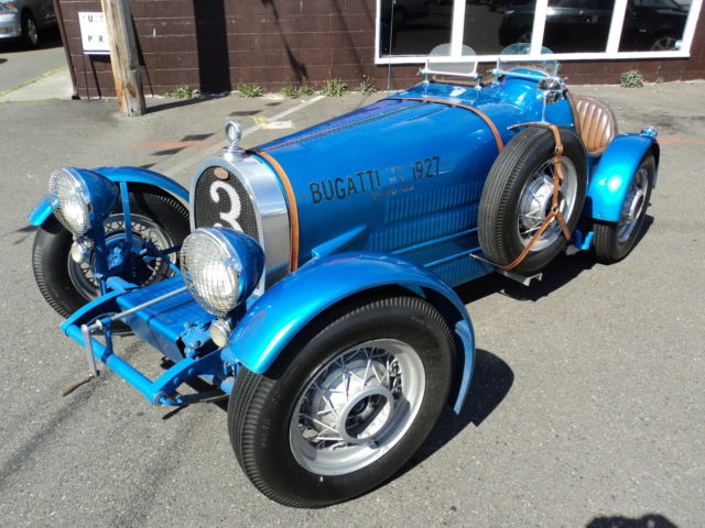 Seller of Classic Cars   1965 Replica Kit Makes Bugatti Replica on     1965 Replica Kit Makes Bugatti Replica on 1965 Volkswagen chassis  Blue Tan
