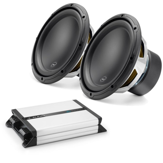 jl audio dual 12w3v34 and jd1000/1d subwoofer package