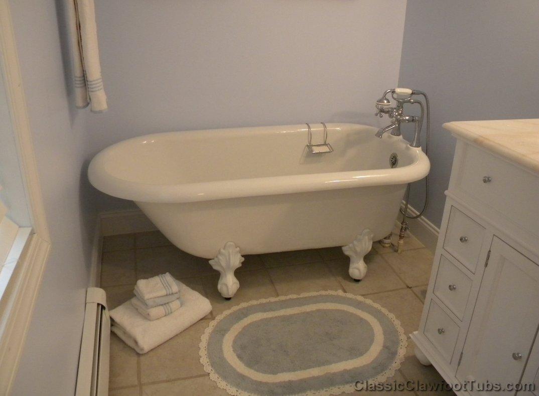 60 Acrylic Rolled Rim Clawfoot Tub Classic Clawfoot Tub