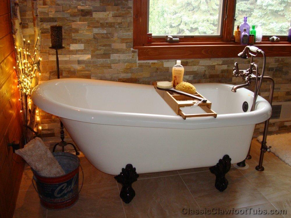60 Acrylic Slipper Clawfoot Tub Classic Clawfoot Tub