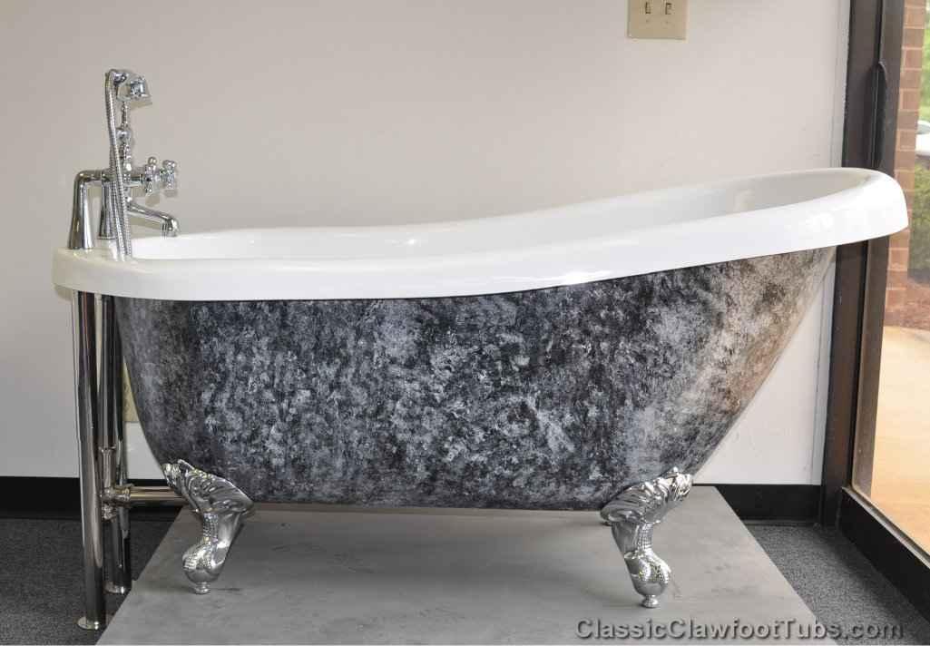 61 Acrylic Slipper Clawfoot Tub Classic Clawfoot Tub