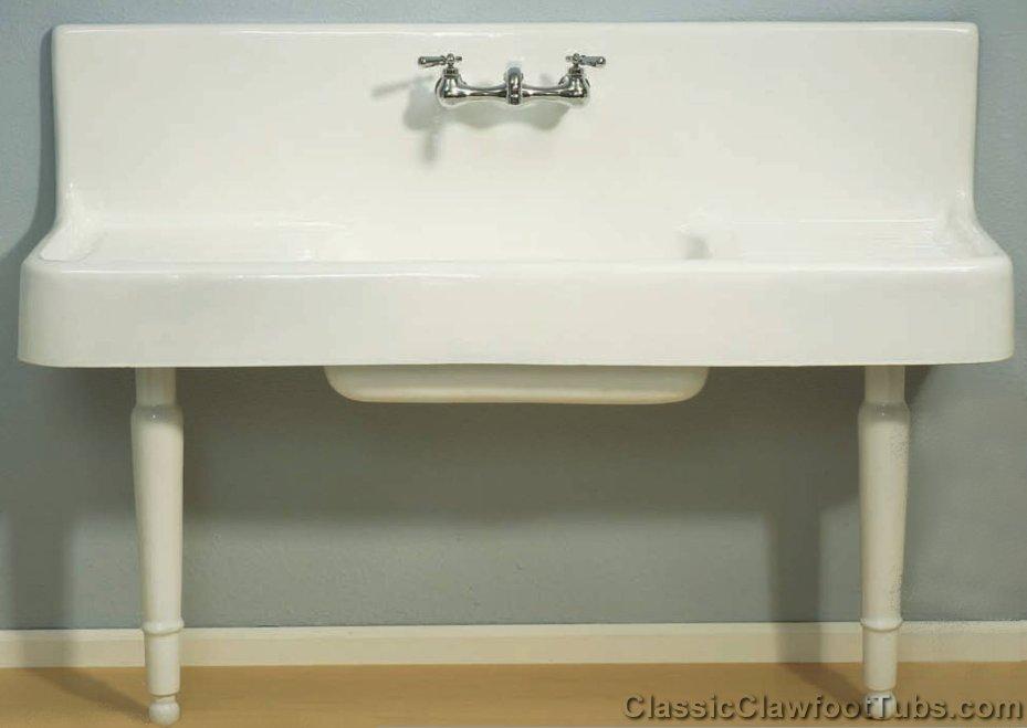 60 Farmhouse Drainboard Sink With Legs Classic Clawfoot Tub