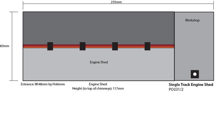 00 scale, Single Track Engine Shed