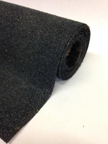 Javis 1200mm x 600mm or 300mm Landscape Mat, black tarmac No.9