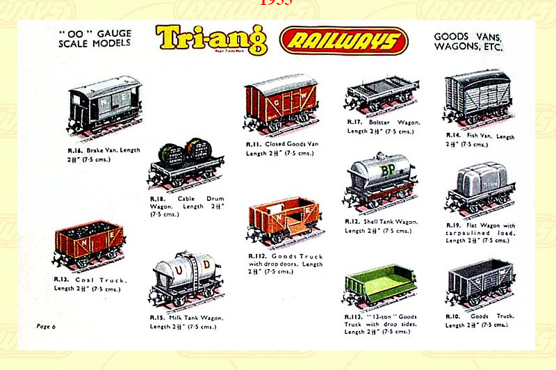 Triang wagons 1955