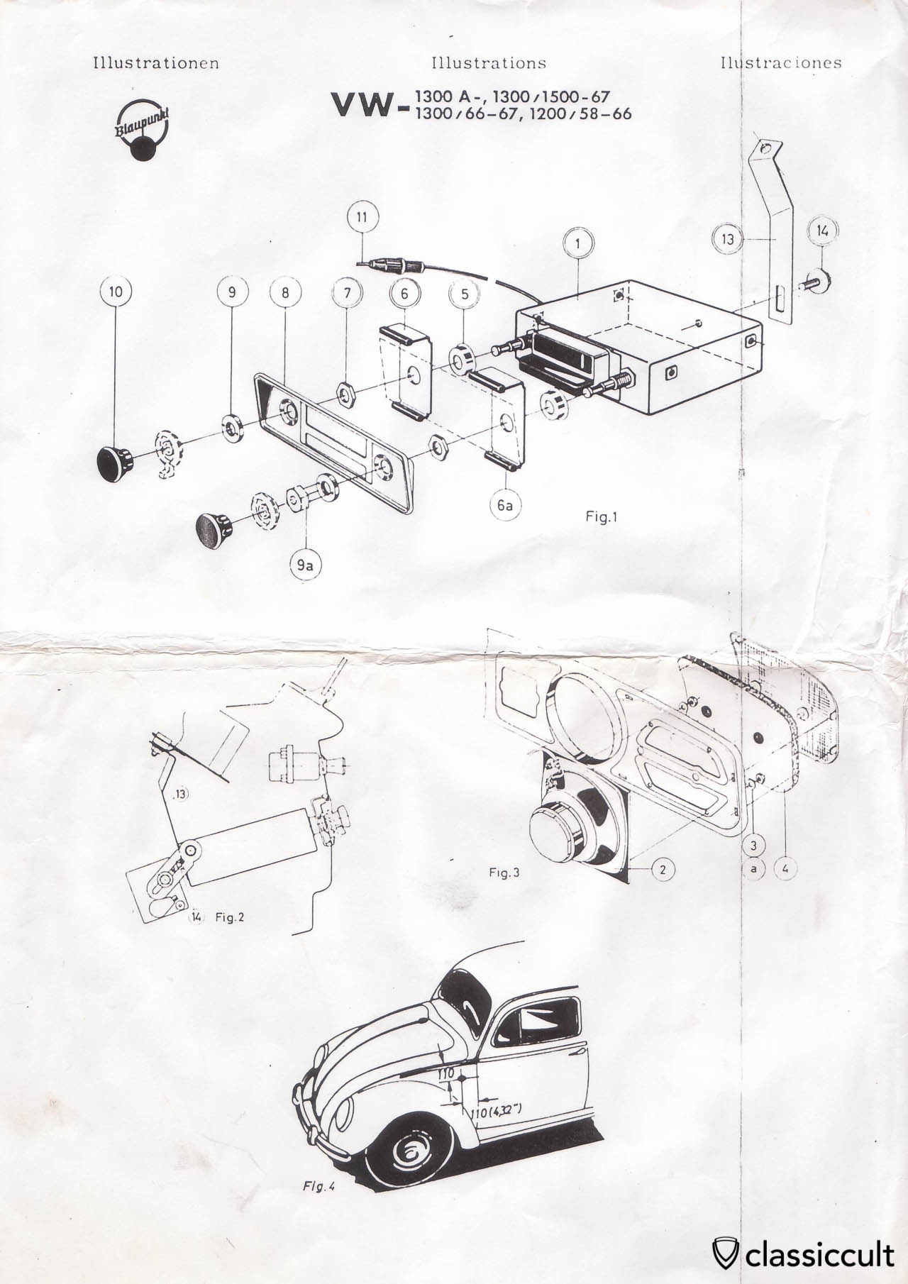 Blaupunkt Radio Installation Instruction Vw Bug