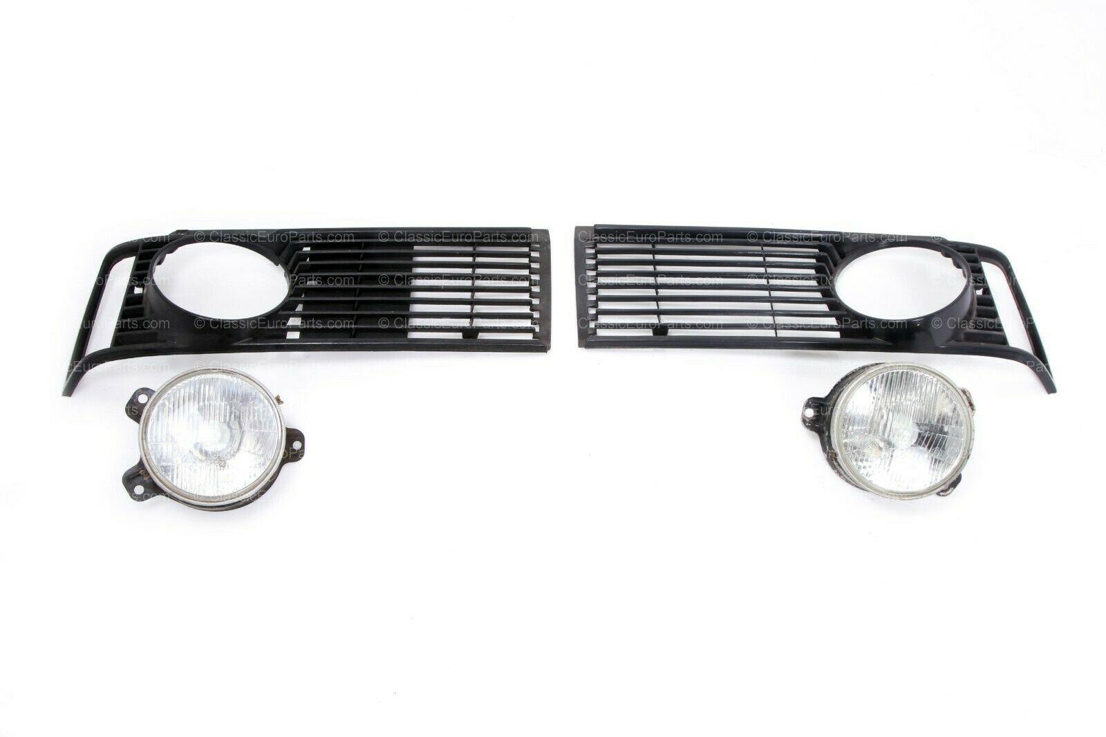 Euro Single Headlight Grill Set For E21 Used Lights Nos
