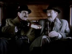 1994 hercule poirot's christmas david suchet and philip jackson
