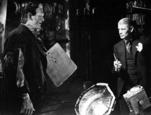 James Whale and Boris Karloff