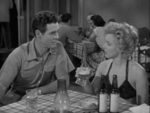 1952 Clash by Night Robert Ryan and Marilyn Monroe