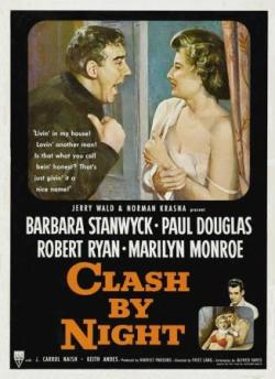 1952 Movie Poster Clash by Night