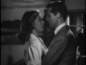 Cary Grant and Ingrid Bergman in Hitchcock's 1946 film Notorious