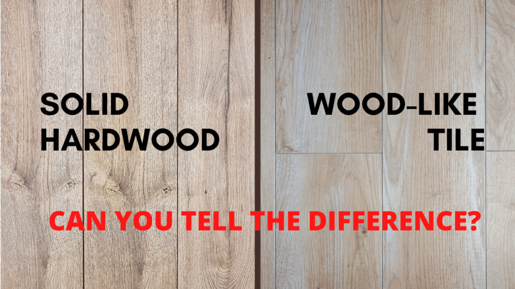 solid hardwood vs ceramic tile with a
