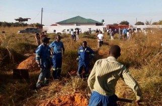 "The burial site of the ""dead girl."" --- Mwebantu.News"