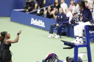 Serena Williams argued with umpire Carlos Ramos throughout the second set