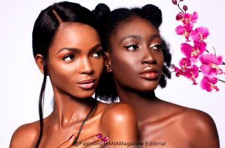 Confidence Models Kukua & Grace Star In 'ORCHID BEAUTY' New Breast Cancer Editorial