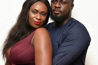 Bibi Bright with her husband, Akwasi Boateng