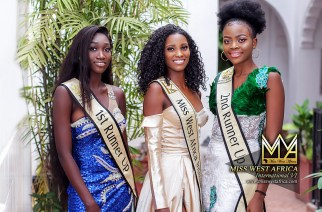 Cape Verdean Beauty Dandira Stun In Her Official Miss West Africa Queen Images With Runners Up