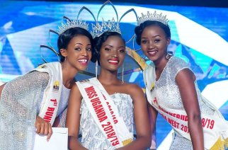 Miss Uganda 2018 pageant with the winner Quinn Abenakyo and runners up.