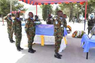 Memorial Service Held For Major General Vib-Sanziri In Israel