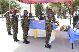 Memorial Service Held For Major General Vib-Sanziri In Israel