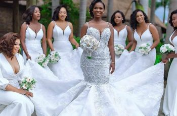 The Gorgeous Wedding Dress Of Mrs Dumelo And The Beautiful Bridesmaids