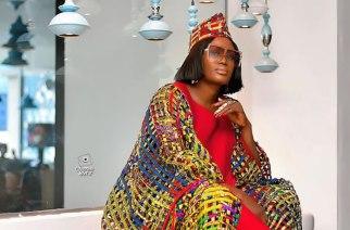 Fashion Brand Claturally Fixes Up Nana Akua Addo This Beautiful African Print Wooven Kaftan