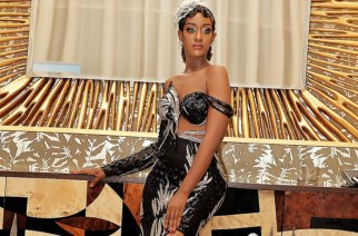 Regina Van Helvert Shows Off A Beautiful One Shoulder Fashion Outfit