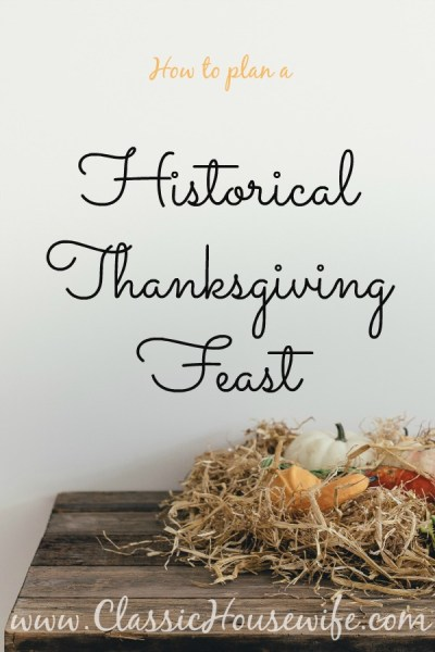 historical thanksgiving feast