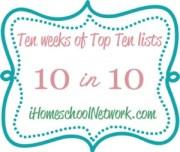 10WeeksofTop10 300x254 You Might Be a Pick & Choose Homeschooler IF..