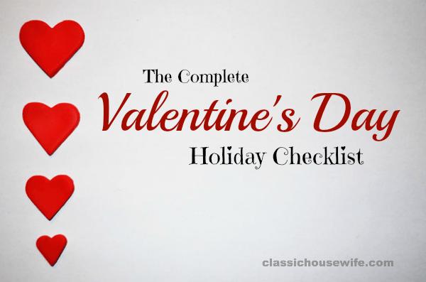 The Complete Valentine's Day Lesson Plan Checklist ...