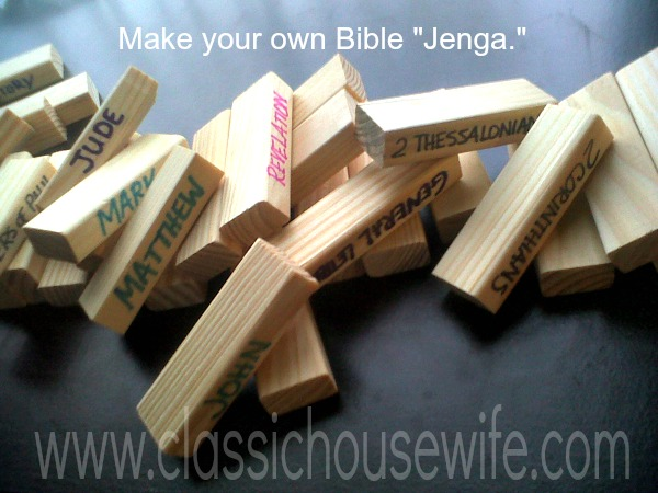Books of the Bible Game Blocks