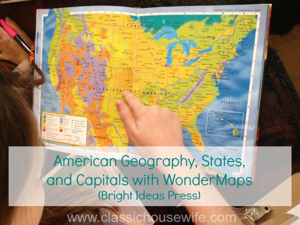 American Geography States Capitals WonderMaps