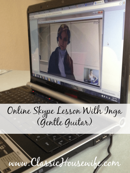 Online Skype Lesson With Gentle Guitar