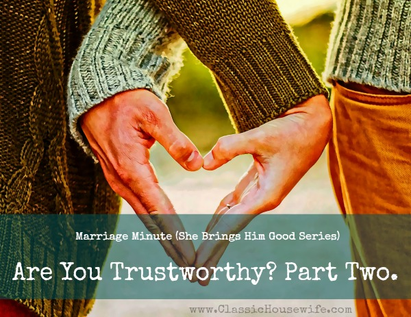 Are you a trustworthy wife?