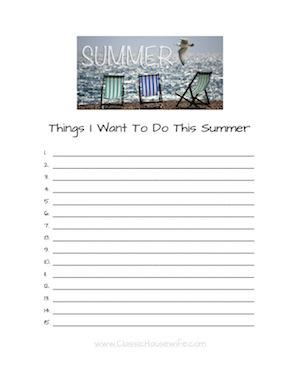 Summer Wishlist - Advanced