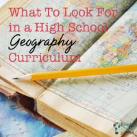 high school geography curriculum