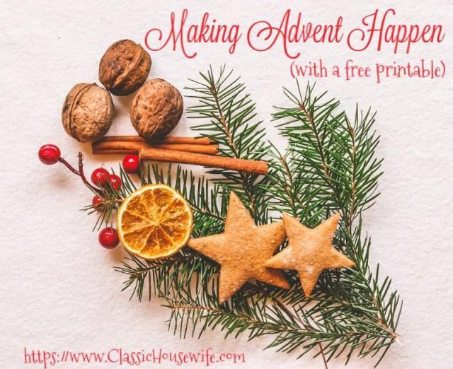 Making Advent Happen