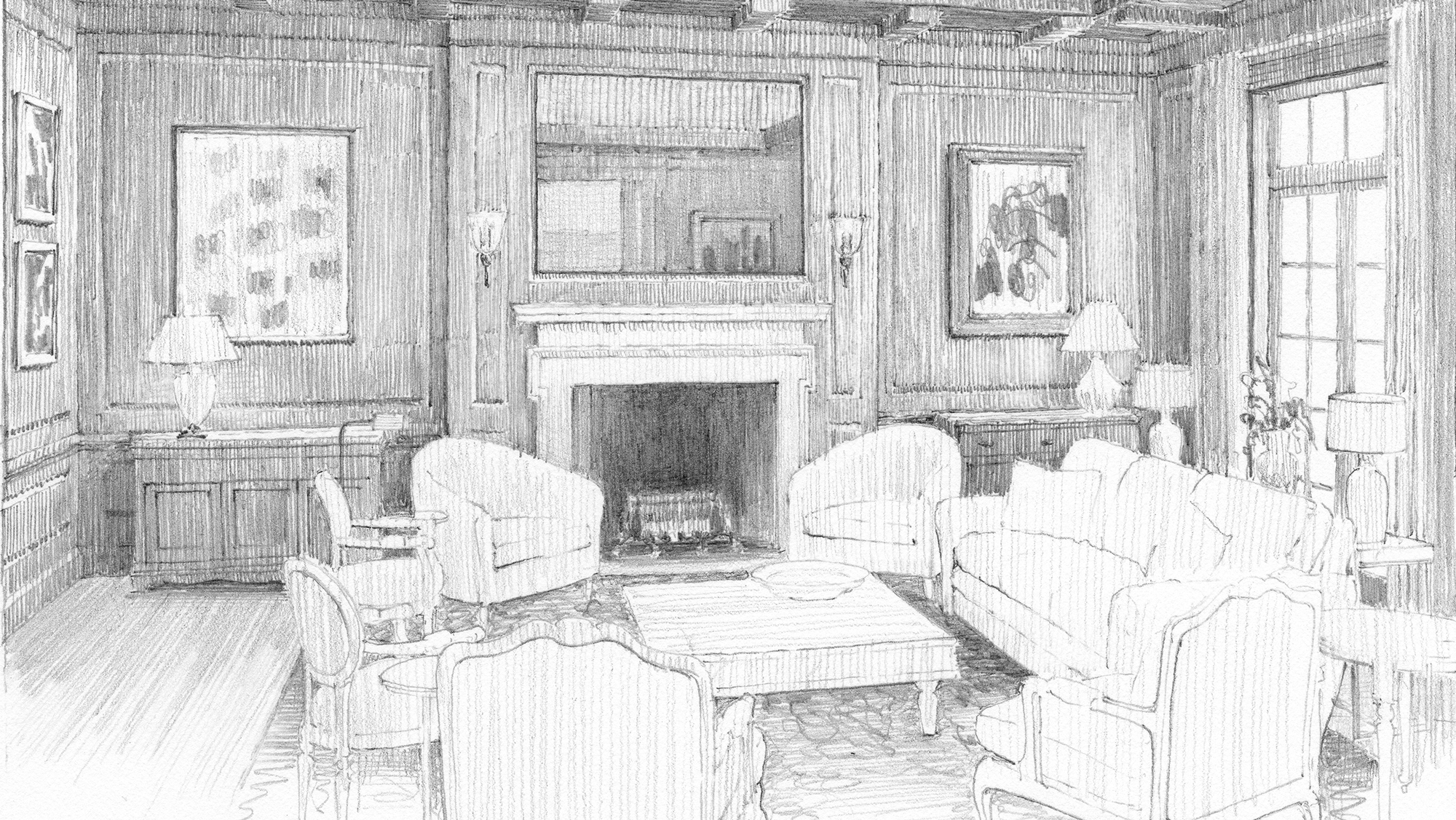 Rendering The Architectural Interior In Pencil Institute