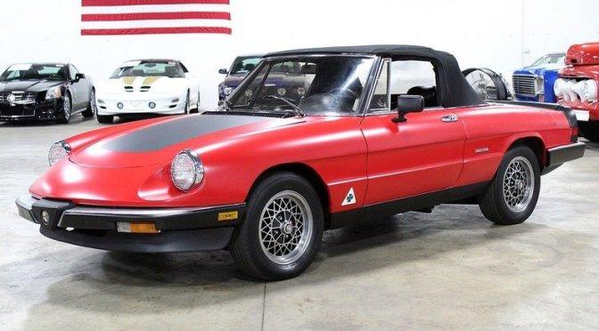 Alfa Romeo Spider Graduate Classic Italian Cars For Sale - 1986 alfa romeo spider veloce for sale