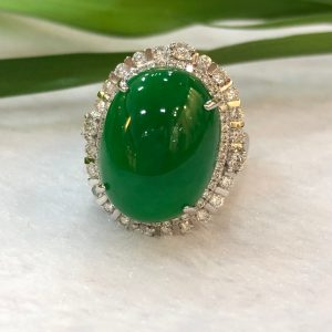 imperial jade cabochon ring/pendant