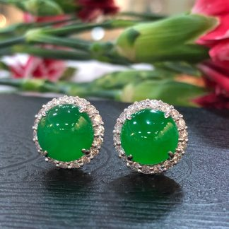imperial green jade earrings