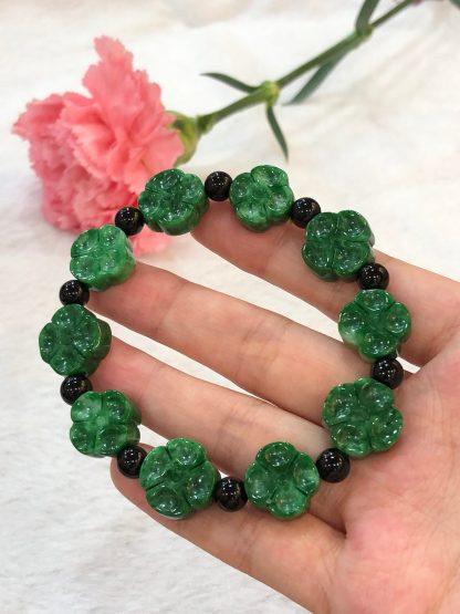green jade clover leaf bracelet