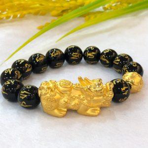 pure gold pixiu bracelet
