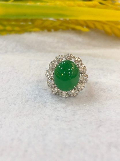 imperial apple green jade ring